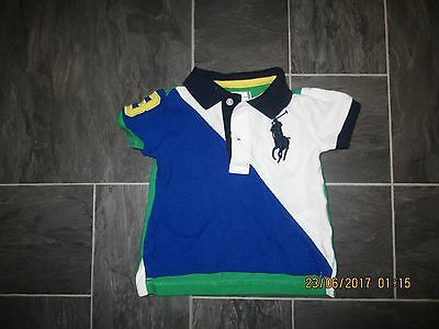 baby boys ralph lauren polo style t shirt age 3mths