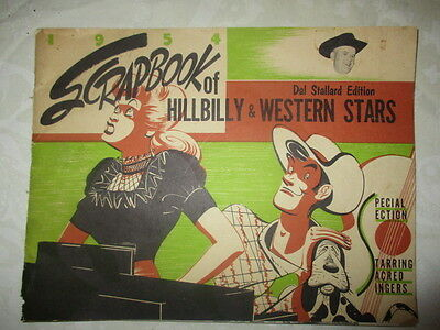 1954 Scrapbook of Hillbilly & Western Stars Vintage Dal Stallard Edition Book