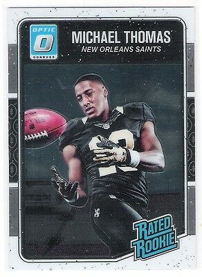 Micheal Thomas 2016 Donruss Optic O Rated Rookie Card - New Orleans Saints