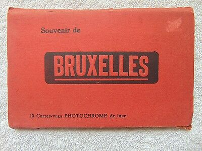 Vintage Souvenir Postcard Booklet From Brussels With 8 B/w Postcards