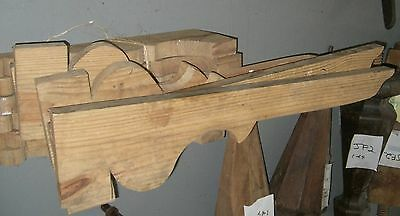 Architectural  Salvage BRACKET  pine  wood curved  hand made corbel