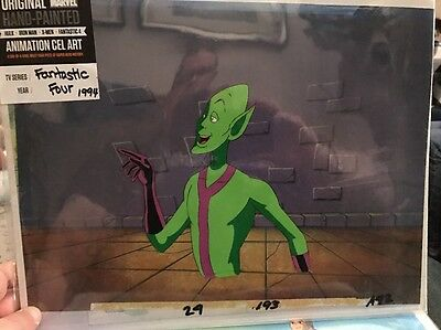 Original Marvel Hand Painted Animation Cel Art From Fantastic Four 1994