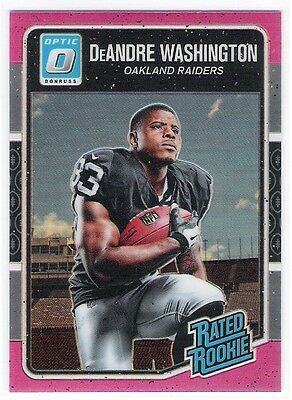 DeANDRE WASHINGTON 2016 DONRUSS OPTIC O PINK PARALLEL RATED ROOKIE CARD