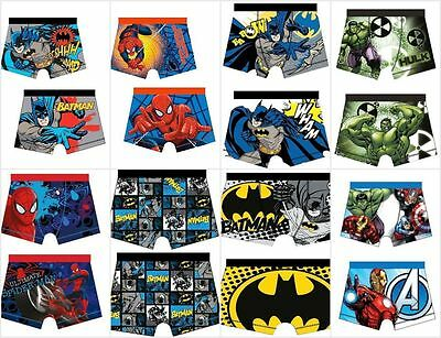 Joblot 60 X Boys Marvel Character Trunks / Boxer Shorts / Mixed Ages & Styles