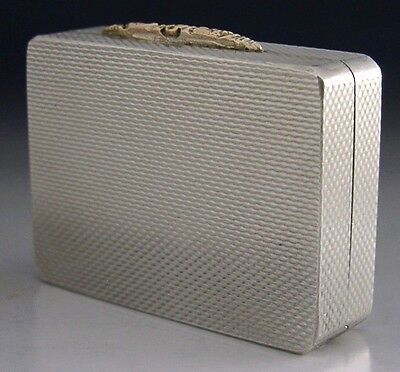 Super Quality Heavy Sterling Silver & Gold Gallagher Snuff Box 1997