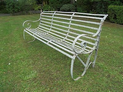 Antique English Iron Garden Bench
