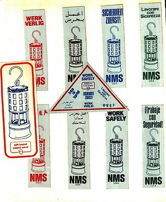 10 Different Nice (Set) National Mine Service Coal Mining Stickers # 938