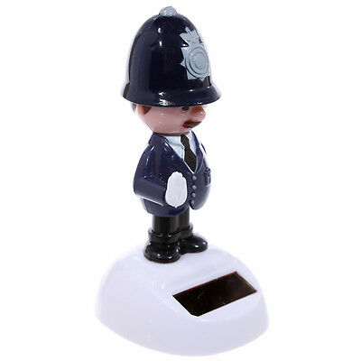 London Bobby Police Officer Policeman Solar Powered Funny Decoration
