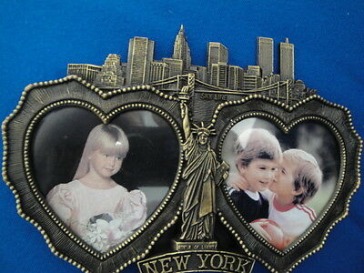 Pre 911 New York Sky Line Statue Liberty Empire State Building Twin Towers Frame