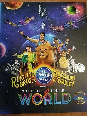 2017 Ringling Bros & Barnum and Bailey Circus Out of This World Program.