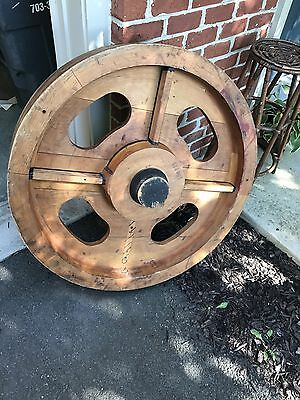 Antique Industrial Wood Foundry Gear Mold HUGE