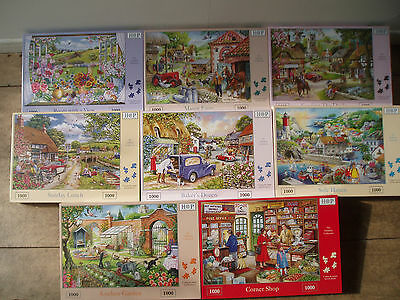 1000 / 500  piece jigsaw puzzles   HOUSE OF PUZZLES  SEALED  use drop down  menu