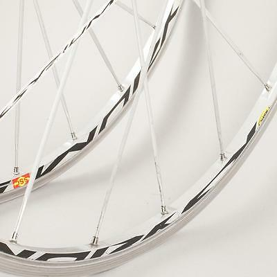 Used Mavic Ksyrium SSC SL Road Silver bike wheelset 700c campagnolo 10/11 speed