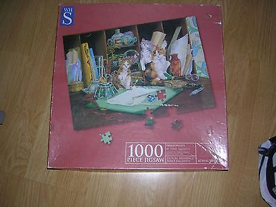 Whs 1000 Piece Jigsaw Puzzle - Desktop Cats