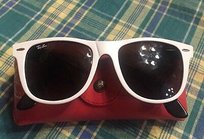 """***Ray Ban*** White WAYFARER """"Vintage"""" Sunglasses-Made in Italy"""