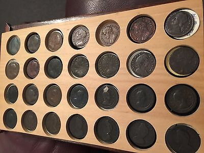 Charles 11 Farthings To Victoria Nice Set 73  Two Day Offer