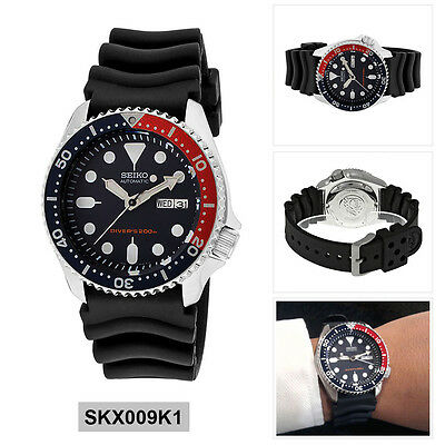 Seiko Analog Sport Watch Automatic Diver's Black Mens SKX009K1