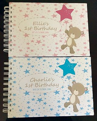 Personalised CHILD'S BIRTHDAY*1st*2nd*3rd*4th Guest/Memory Book A5 Girl or Boy