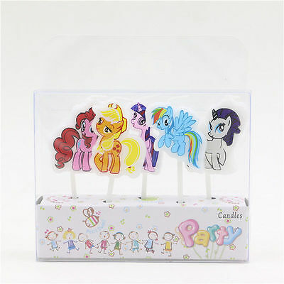 My Little Pony Birthday Party Candles 5 Pack FREE P&P