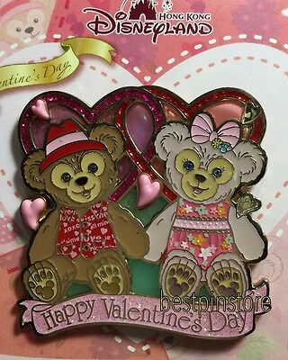 Hong Kong Disney pin - HKDL 2015 Valentine's Day - Duffy ShellieMay With Love LE
