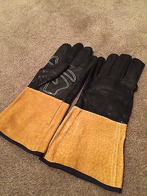 """Welding Gloves!!! Mig Tig Stick, Full Grain Goat Leather """"Tight Fit """"LARGE !!!"""