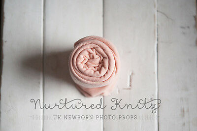 Peach Long Fine Jersey Super Stretch Wrap| Newborn Photography- Photo Prop