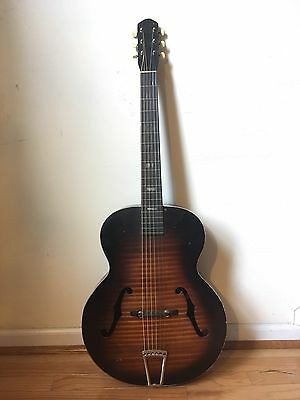 Vintage 1938 HARMONY H942 Archtop Guitar Acoustic Antique