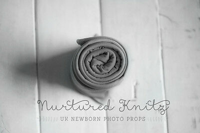 Grey Long Fine Jersey Super Stretch Wrap| Newborn Photography- Photo Prop