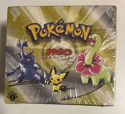 1st Edition Neo Genesis Sealed Booster Box, WOTC, Pokemon. 36 Packs.