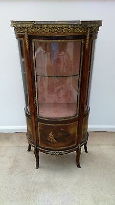 Reproduction Vernis Martin Display Cabinet Vitrine French style