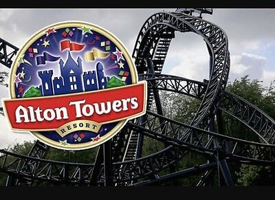 X4 Alton Towers E-tickets For Sunday 1st October 2017