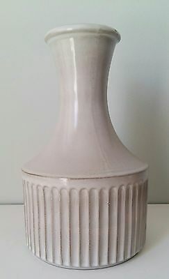 E G Canada Vintage Mid Century Art Pottery Vase Light Grey