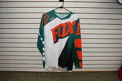 Closeout!!! Fox White/Green/Orange 180 Motocross/Off-Road/ATV Jersey