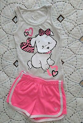 Justice Size 7 Top and Shorts 2 piece set