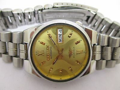 Vintage Men's Citizen Automatic Day & Date Old & Used Excellent Wrist Watch