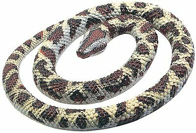 Fake Realistic Rubber  Rock Python Snake Toy 26 Inch Long Garden Props Scary Gag