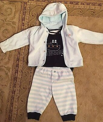 Baby Boys Outfit, 6-9 Months, From Mothercare