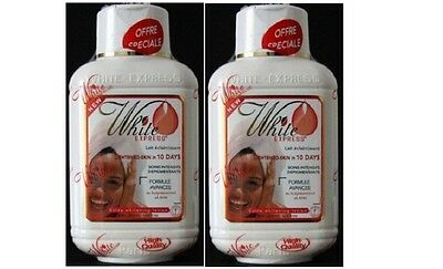 Set of 2 White express Lightening/Extra Whitening Lotion in 10 Days 500 M