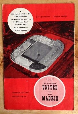 Manchester United v Real Madrid 13/12/1961 Friendly