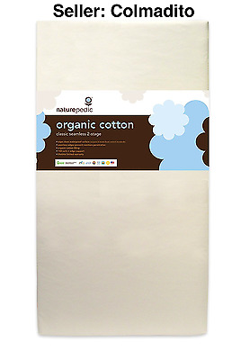 Naturepedic No Compromise Organic Cotton Classic 150 Seamless Dual Firmness Crib