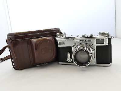 Zeiss Contax Ii 35Mm Film Rangefinder Camera Sonnar Lens 1937