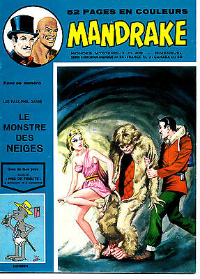 Mandrake N°408 - Editions des Remparts - 4-9-1973 - ABE