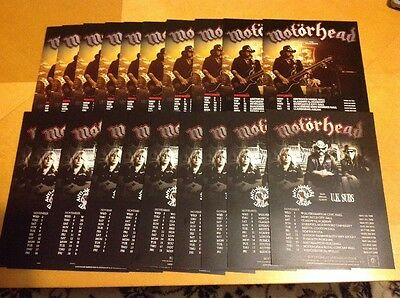 Motorhead 20 Rare Concert Flyers 2010 And 2011 Tours UK Subs Anti Nowhere Lemmy
