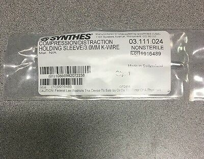 Synthes 03.111.024 Compression/distraction Holding Sleeve 3mm
