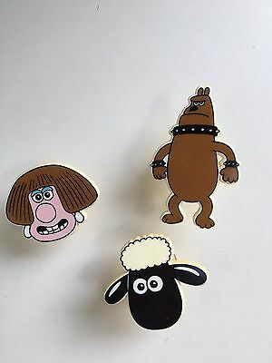 3x Vintage Wallace and Gromit Characters with Suckers