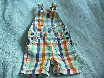 ** FAB Baby Boy Checked Short Dungarees - BHS (6 - 9 months) **