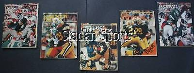 Canadian Football Illustrated/Programs Lot of 5   1979   With Brock, Kepley!