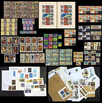 GREAT DEAL ! 227 RARE Stamps & Countries,MNH,Animals,Paintings,Space,Ships,GIFT