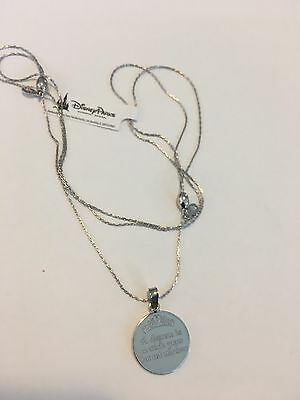 Disney Alex and Ani Cinderella Necklace silver Dream Is A Wish Your Heart Makes
