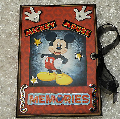 Disney Mickey Mouse Chipboard Folio Album (Not Paperbag) Premade Scrapbook Pages
